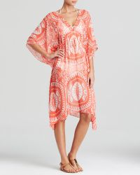 Echo - Maldives Medallion Print Swim Cover Up Caftan - Lyst