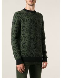 Dior Homme Woven Patterned Sweater - Lyst