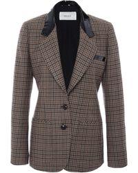 Rodarte Brown Wool Tweed Blazer - Lyst