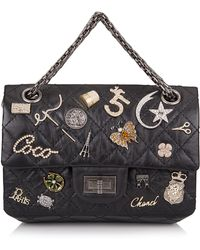 Madison Avenue Couture - Runway Edition Chanel Black Aged Calfskin Reissue 2.55 Lucky Symbol 224 Flap Bag - Lyst