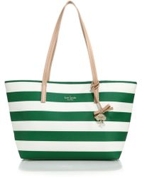 Kate Spade Hawthorne Lane Striped Coated-Canvas Tote - Lyst