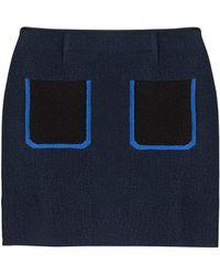 Sonia Rykiel Silk Crepe Mini Skirt - Lyst