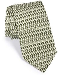 Ferragamo Panda Print Silk Tie green - Lyst