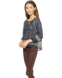 House of Harlow 1960 - Gretta Top - Navy - Lyst