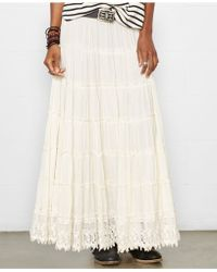 Denim & Supply Ralph Lauren Tiered Maxi Skirt - Lyst