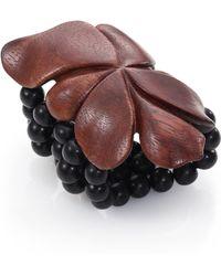Josie Natori - Beaded Flower Bracelet - Lyst