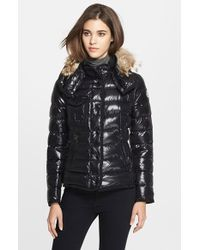 Moncler 'Armco' Genuine Coyote Fur Trim Goose Down Jacket With Removable Hood - Lyst
