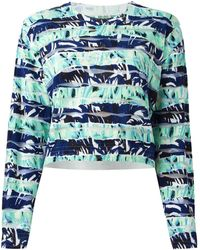 Kenzo Torn Paper Cotton-Blend Sweater - Lyst