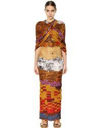 Givenchy Printed Viscose Jersey Long Dress - Lyst