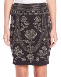 Haute Hippie | Embellished Pencil Skirt | Lyst