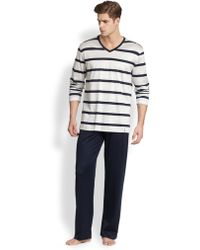 Hanro Miguel Striped Pajama Set - Lyst