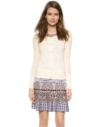 Temperley London Marnie Lace Back Cardigan - Ivory - Lyst