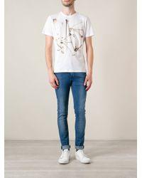 Diesel Skeleton Print Tshirt - Lyst