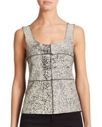 Bailey 44 Giallo Printed Leather Tank Top - Lyst