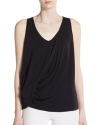 Elizabeth And James Ruched Tank Top - Lyst