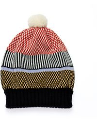 Margot & Me - Knit Hat Olive - Lyst