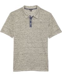 Vince Linen 3 Button Polo - Lyst