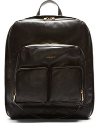 Marc Jacobs Black Leather Backpack - Lyst