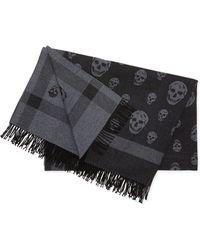 Alexander McQueen Wool Skull-design Blanket - Lyst