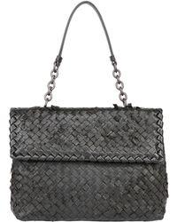 Bottega Veneta Olimpia Tobu Woven Nappa Leather Bag - Lyst