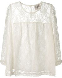 Sea Ivory Lace Top - Lyst