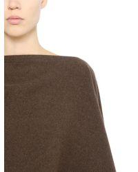 Christophe Lemaire - Herringbone Wool Tweed Poncho - Lyst