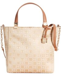 Tommy Hilfiger Th Hinge Monogram Jacquard Convertible Small Ns Tote - Lyst