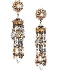 Erickson Beamon Ballroom Dancing Crystal & Faux Pearl Tassel Earrings - Lyst