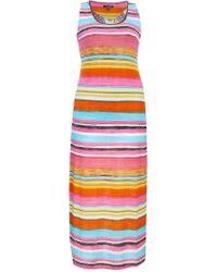 Samya Striped Maxi Dress with Open Back - Lyst