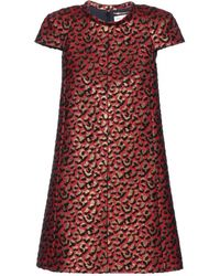Saint Laurent Jacquard Dress - Lyst
