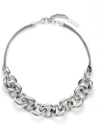 Vince Camuto - Lucid Dreams Leather Link Collar Necklace - Lyst
