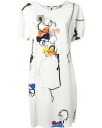 N°21 Abstract Print Shift Dress - Lyst