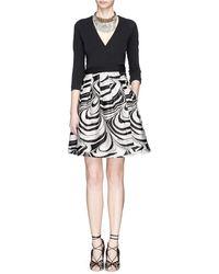 Diane von Furstenberg Jewel Faux Wrap Marble Wave Print Dress - Lyst