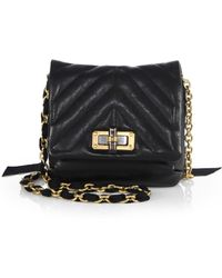 Lanvin Happy Mini Quilted Leather Shoulder Bag - Lyst