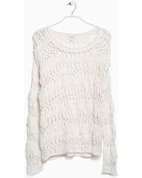 Mango Openwork Sweater - Lyst
