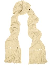 Etoile Isabel Marant Drake Cable-knit Wool Scarf - Lyst