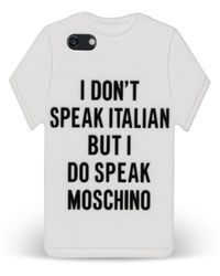 Moschino Case For Iphone 5 5S T Shirt - Lyst