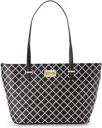 Kenneth Cole Reaction Black & White Duplicator Pixie Tote - Lyst