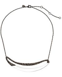 Alexis Bittar Cubist Encrusted Elongated Link Necklace - Lyst