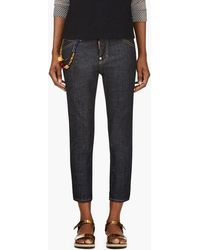 DSquared2 Blue Beaded Cool Girl Cropped Jeans - Lyst