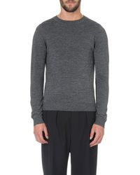 Sandro Wool Sweater - Lyst