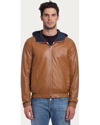 Bally Reversible Leather Jacket - Lyst