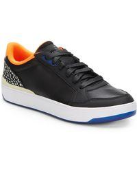 Alexander McQueen x Puma Brace Leather Colorblock Low-Top Sneakers black - Lyst