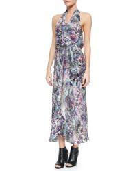 Haute Hippie Abstract-Print Halter Wrap Dress - Lyst
