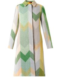 Missoni Chevron Woolblend Coat - Lyst