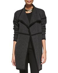 Eileen Fisher Draped-front Long Cashmere Cardigan - Lyst