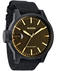 Nixon Chronicle Matt Black Orange Tint Watch - Lyst