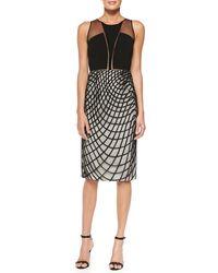 Sachin & Babi Khloe Cocktail Sheath Dress W Wavy Diamond Skirt - Lyst
