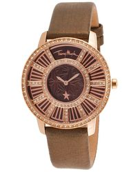 Thierry Mugler Women'S Bronze Genuine Leather Brown Dial - Lyst