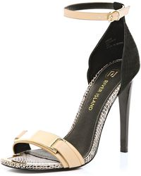 River Island Nude Snake Metal Trim Barely There Sandals - Lyst